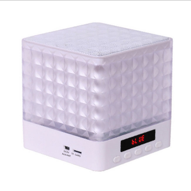 new mini cube square led light bluetooth wireless speaker. Black Bedroom Furniture Sets. Home Design Ideas