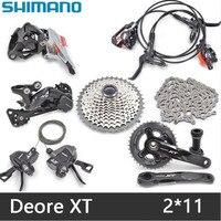 SHIMANO XT M8000 Mountain bike shift drive kit crankshaft sprocket 1/2 X 11 speed bicycle parts derailleur kit free delivery