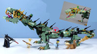Lepin 06051 592pcs Ninja Movie Series Flying Mecha Dragon Building Kit Blocks Bricks Toys Children Gifts