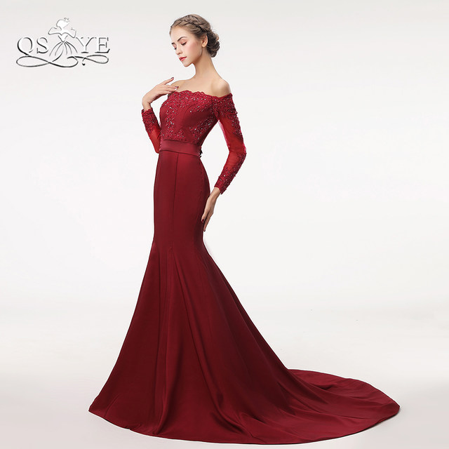 Beaded Long Prom Dresses 2018