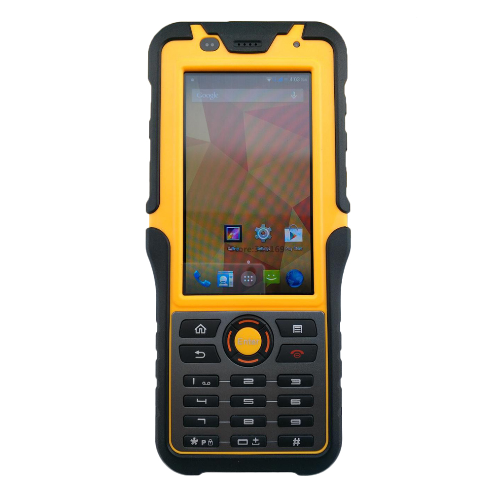 2017 Rugged Waterproof Big Phone Handheld Terminal Barcode Scanner Android Bluethooth PDA NFC 2D Laser Reader 3G Data Collector
