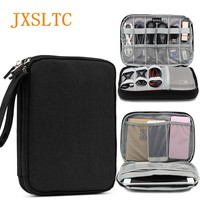 JXSLTC Electronic Travel Accessories Oxford Cloth SD Card USB Data Cable Charger Organizer Bag Portable Multi