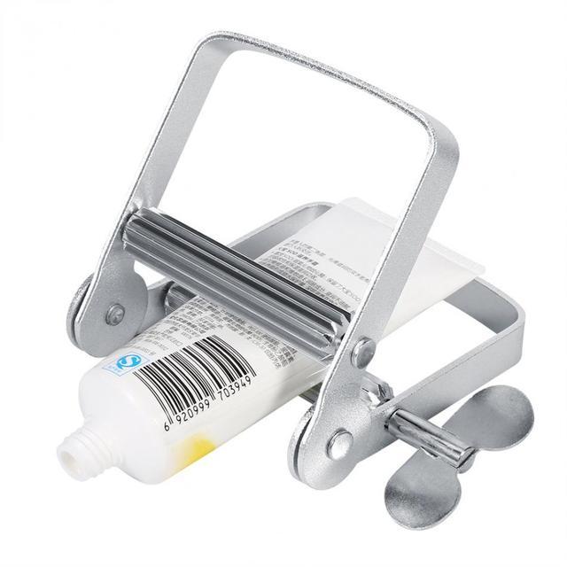 Aluminium domu łazienka rury Rolling Holder wyciskacz/dozownik pasty do zębów Rolling Tube Push do wyciskania akcesoria łazienkowe