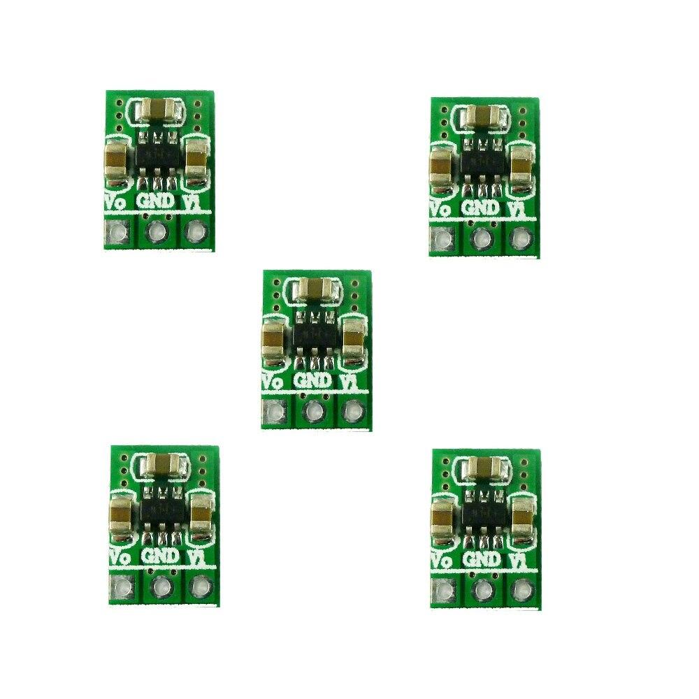2 в 1 Мини малошумный повышающий преобразователь постоянного тока 1,8 в-5 в до 3,3 В, Регулируемый блок питания