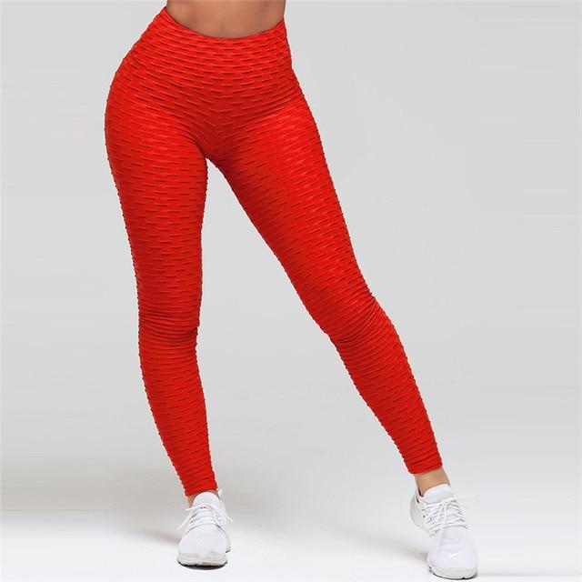 CHRLEISURE Fitness Black Leggings Women Polyester Ankle-Length Standard Fold Pants Elasticity Keep Slim Push Up Female Legging 11