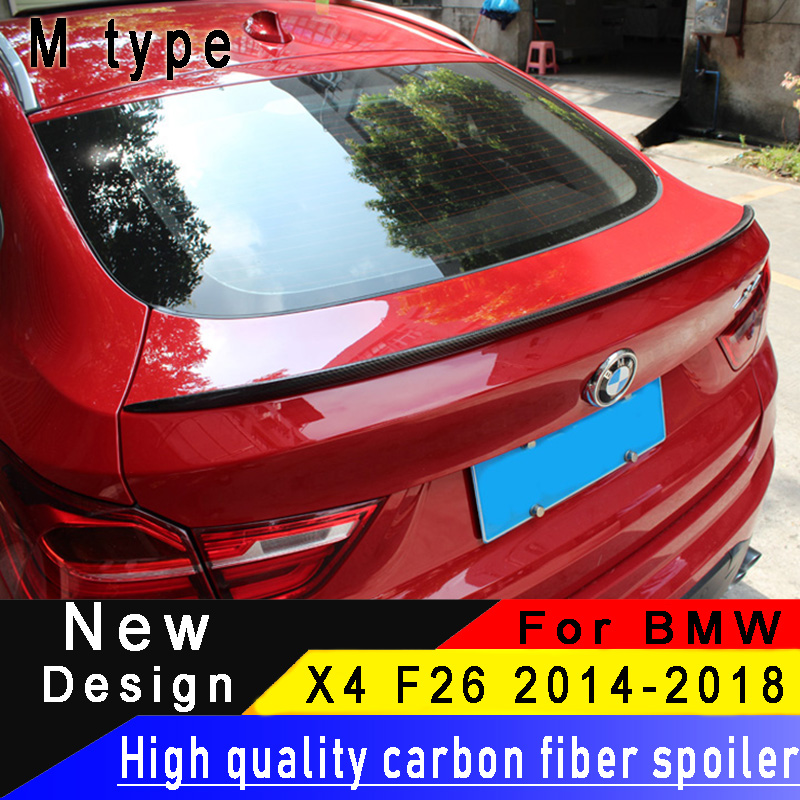For BMW X4 F26 2014 2015 2016 2017 2018 Carbon Fiber Rear Wing High Quality X4