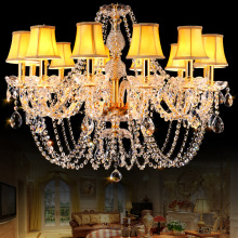 Luxury Crystal Chandelier Lighting Modern LED Glass Chandeliers For Living Room Kitchen lustres de sala de cristal Wedding Decor