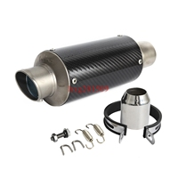 Carbon Fiber Round Slip On Exhaust Muffler Fits For 125CC 1200CC Street Sport Racing Motorcycles and Scooters High Performance