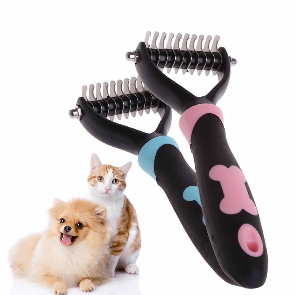 Dog Pet Brush Dematting Grooming Deshedding Tool Trimmer Comb Rake 10/13/18 Blades