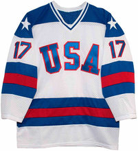 1980 Miracle On Ice Team USA Team Ice Hockey Jerseys Vintage White 17 Jack O'Callahan Jersey Stitched Retro Ice Wear(China)