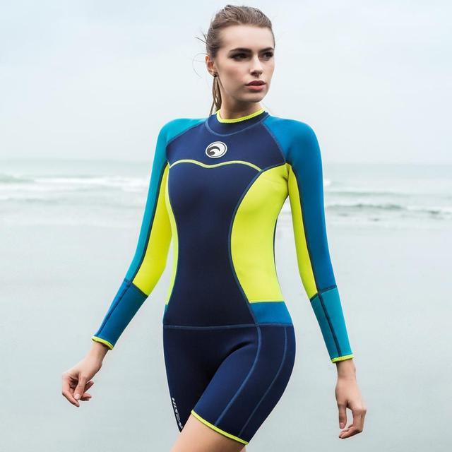 Long sleeves neoprene one piece Swim Suit