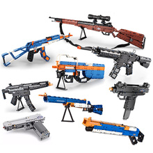 Sniper Rifle Guns SWAT Military Weapon Pack Lot Blocks Model Building Kits WW2 AK47 98K Child Kid Toys Legoes Technic