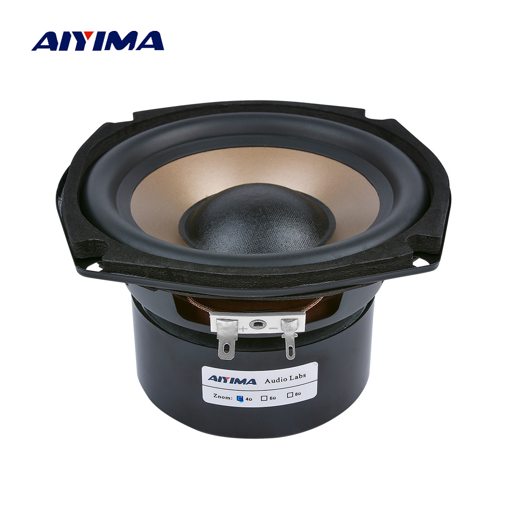 AIYIMA 1Pc 5 25 Inch Subwoofer Speakers 4 8 Ohm 100W Hifi bass Audio Music Woofer