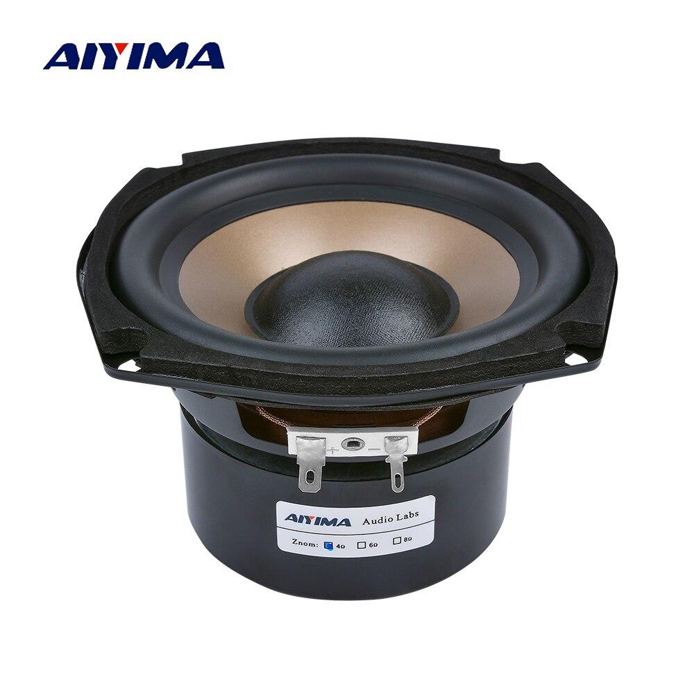 AIYIMA 1 Pc 5.25 pouces Subwoofer haut-parleurs 4 8 ohms 100 W Hifi basse Audio musique Woofer étagères Home cinéma haut-parleur