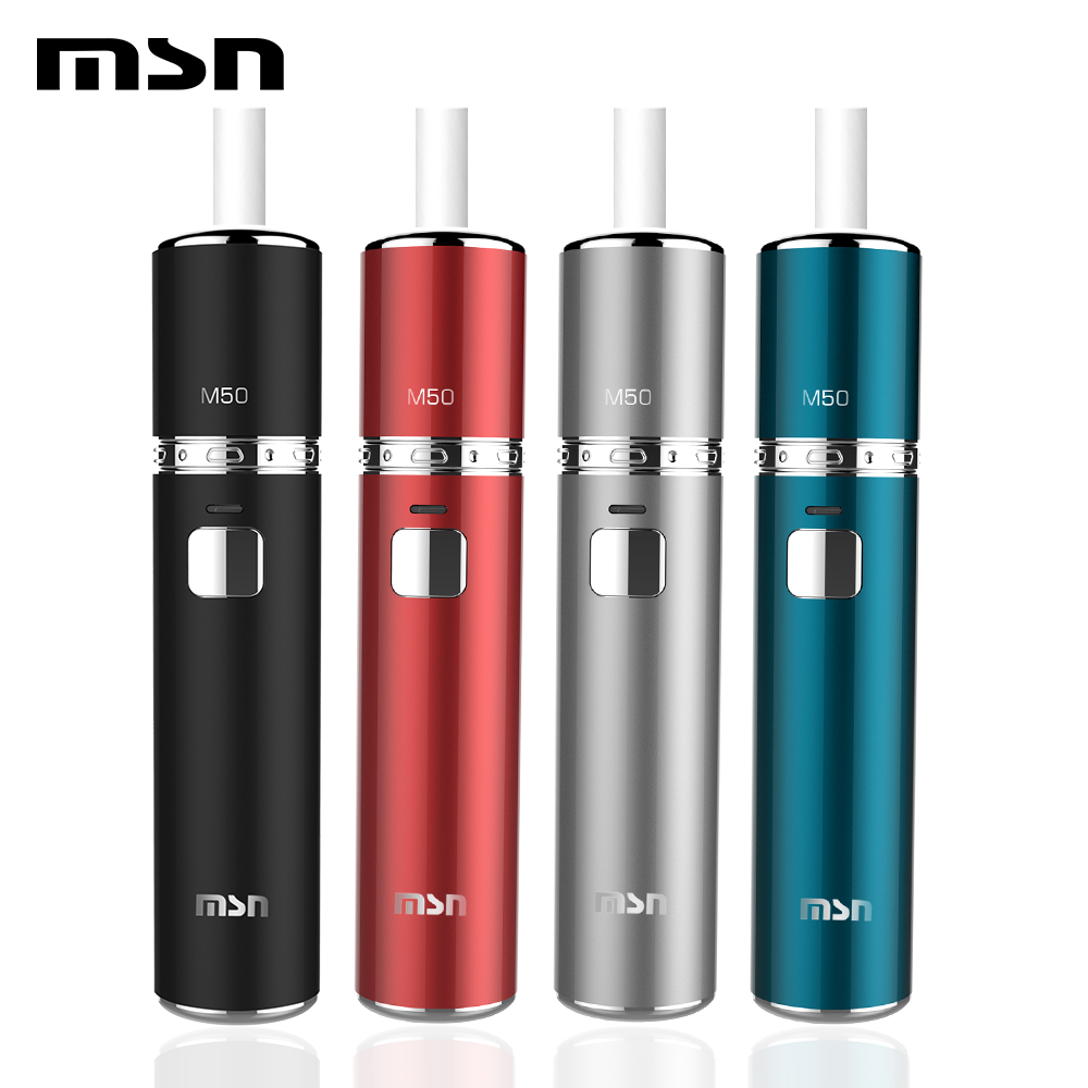 MSN M50 Heat Not Burn Vapers 1450mAh Battery Electronic Cigarette Full Charge Up To 23 Continuous Smoke