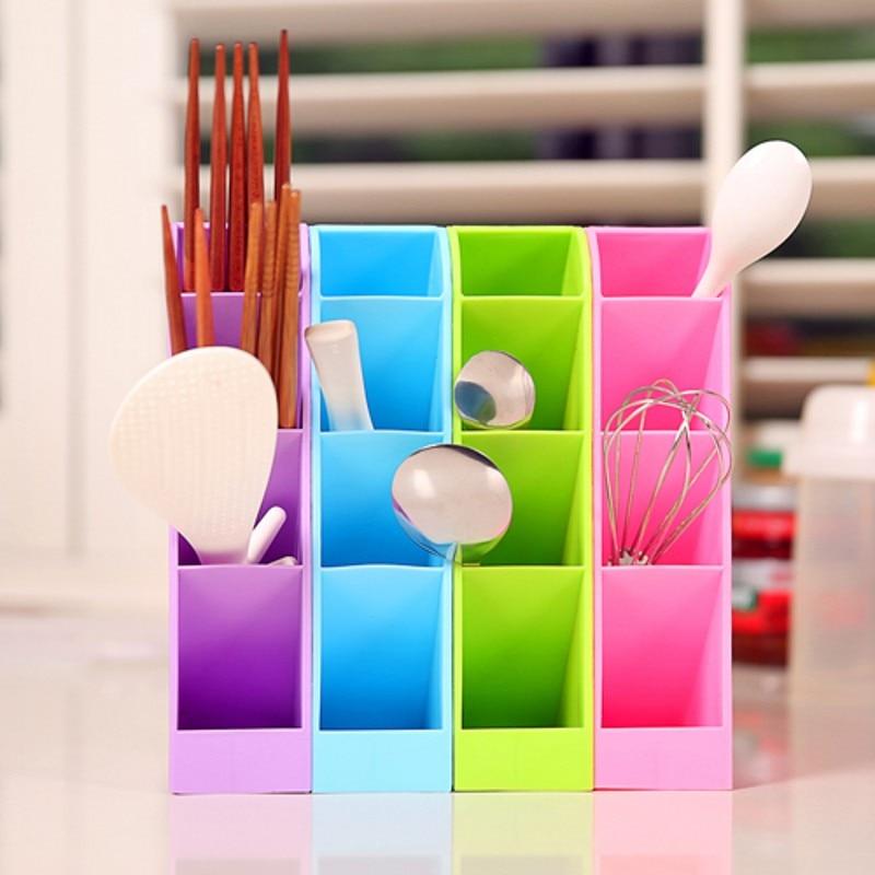 Multifunctional Socks/Underwear Organizer Stationery/Tableware Plastic Storage Box Cosmetics Makeup Office Desktop Organizer