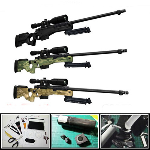 Paper Model Gun Modern AWP Sniper Rifle 1: 1 Proportion 3D puzzle Giocattolo educativo fai-da-te