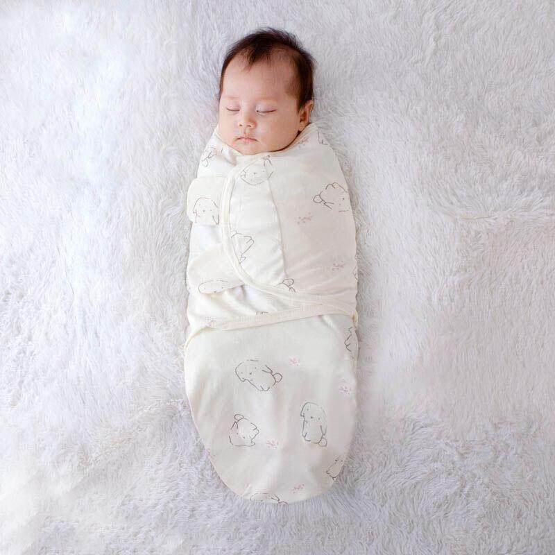 Babies Sleeping Bags Newborn Baby Cocoon Swaddle Wrap Envelope 100%Cotton 0-3 Months Baby Blanket Swaddling Wrap Sleepsack