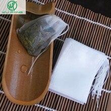 Новые чайные пакетики, 100 шт./лот, 5,5x7 см, пустые чайные пакетики с нитью, фильтрующая бумага для рассыпчатого чая