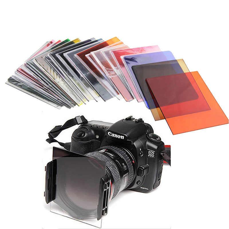 กล้องPซีรีส์สแควร์เลนส์ลาดกรองสีเต็มรูปแบบสีฟ้าสีแดงส้มซันเซ็ทสีเหลืองสำหรับCokin P Canon Nikon Sonyกล้องdlsr