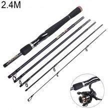 2.4m 6 Sections Lure Fishing Rod ML Power Ultra Light Spinning / Casting Pole