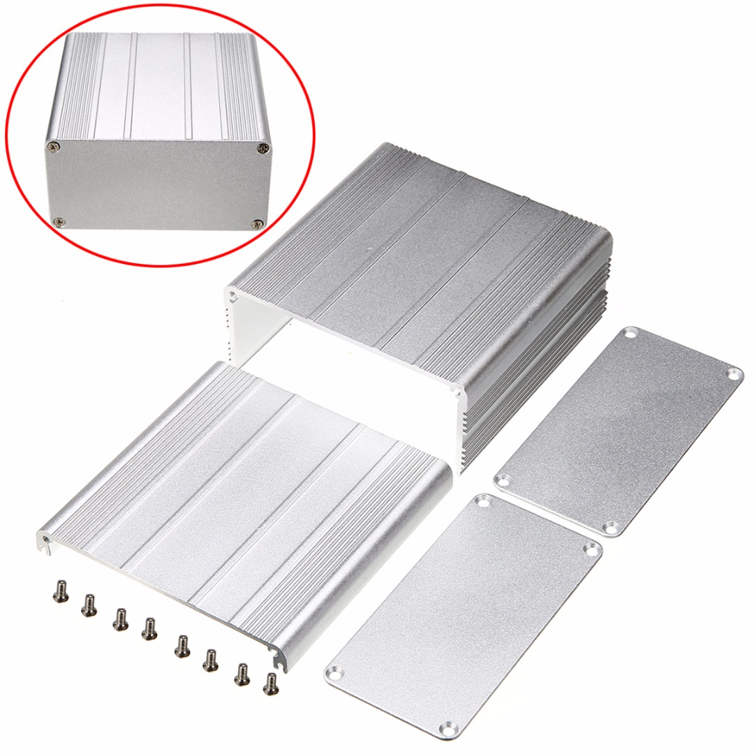 Extruded Aluminum Enclosure Case Electronic Project DIY PCB Instrument Box For Holding Circuit Board 100x100x50mm 4pcs a lot diy plastic enclosure for electronic handheld led junction box abs housing control box waterproof case 238 134 50mm