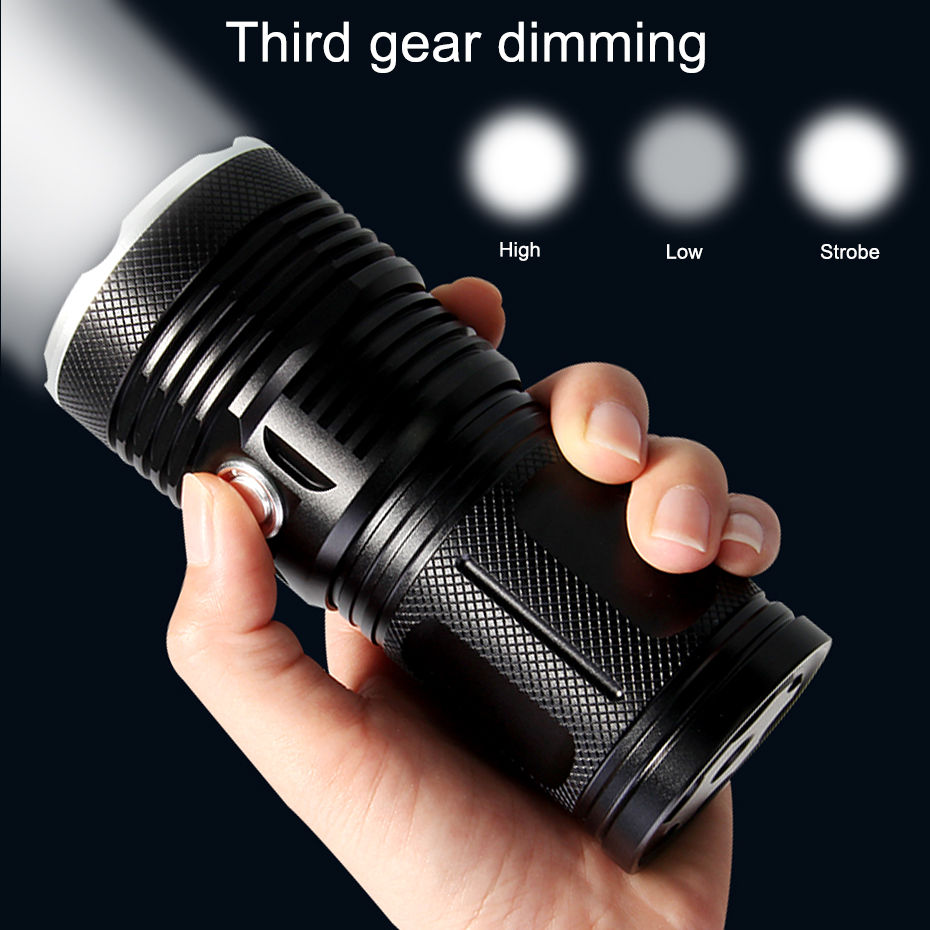 High Power T6 LED Handlamp 9 12 18  15 XM T6 LED Flashlight Torch Lamp Light Lantern For Hunting Camping A1