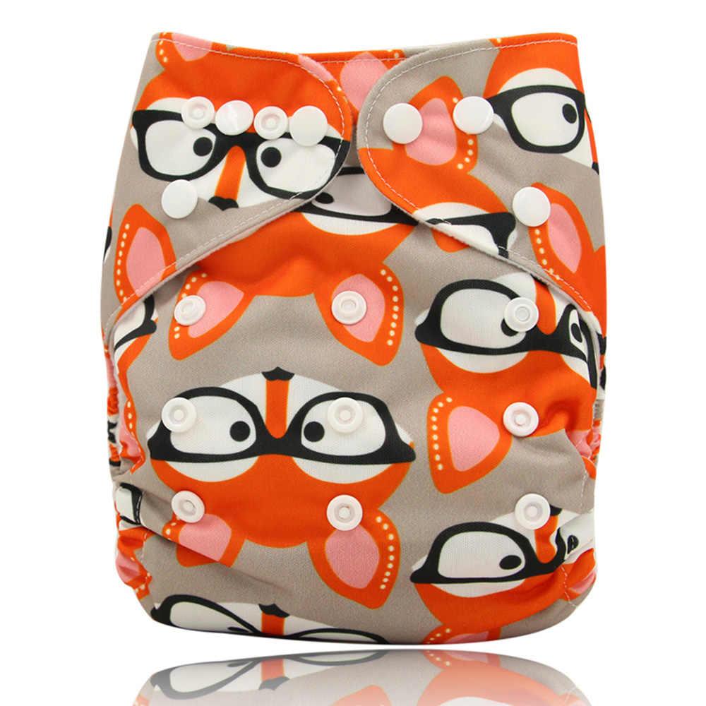 Paquete de 30 pañales de tela de marca Ohbabyka reutilizables patrones de pañales de bebé con estampado de animales pañales de bolsillo impermeables ajustables