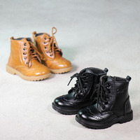Black Size 5 10 Real Leather Kid Shoes Girls Boots Boys Casual Walking Leisure Comfortable Breathable