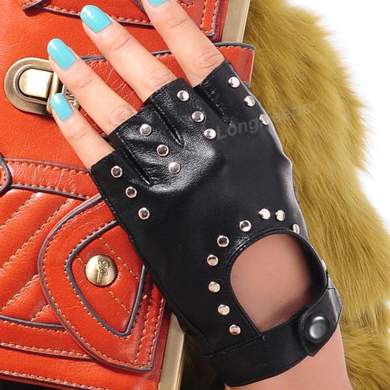 Long Keeper 2017 Fashion Half Finger Gloves Men Faux Leather Mittens Fingerless Tactical Gloves Men Women Driving Guantes G221