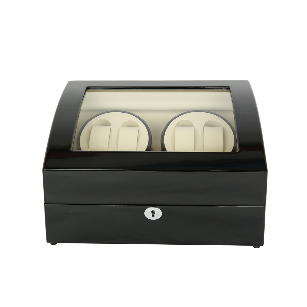 Watch Winder ,LTCJ Wooden Automatic Rotation 4+6 Watch Winder Storage Case Display Box(BW) watch winder lt wooden automatic rotation 2 0 watch winder storage case display box outside is rose red and inside is white