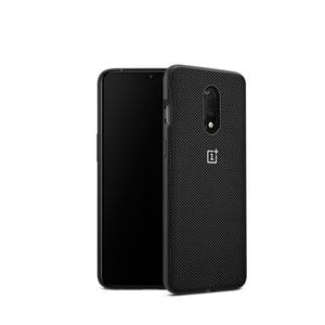 Image 5 - 公式 OnePlus 7 ケース別注シリコーン砂岩ナイロンバンパーフリップカバー強化ガラスのためのオリジナル OnePlus 7