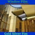 150*50 cm Oro plata casa edificio de oficinas de vidrio vinilo película de tinte solar película de vidrio de construcción