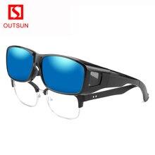OUTSUN marca gafas de sol polarizadas UV400 ajuste para los hombres y las mujeres gafas 2019 cubierta gafas de sol de gafas, gafas