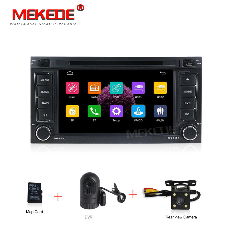 2 Din Car DVD Player For VW/Volkswagen/Touareg 2004 2011 With 7 Inch Screen Canbus Radio GPS Navigation Bluetooth 1080P Ipod Map