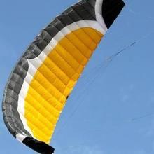 Новое поступление 7 квадратных четырехлинейный змей парашютный спортивный пляжный змей легко летает для игр на открытом воздухе