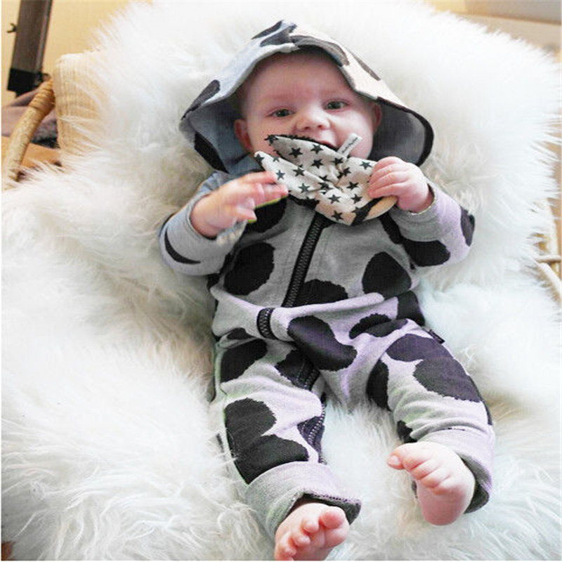 Cotton Newborn Baby Clothes Babyworks One Pieces DOT Baby Romper Infant Boys Girls Long Sleeve Jumpsuits Clothing Baby Rompers 0 9 m cheap baby rompers newborn baby clothing boys girls long sleeve cotton jumpsuits infant spring autumn baby clothes bpy009