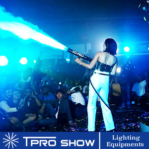 Image 5 - DJ Gun CO2 Jet Hand Held Pistola CO2 FX Effect Machine Cryo Cannon 3 Meters Gas Hose for Stage Event Live Show Singer