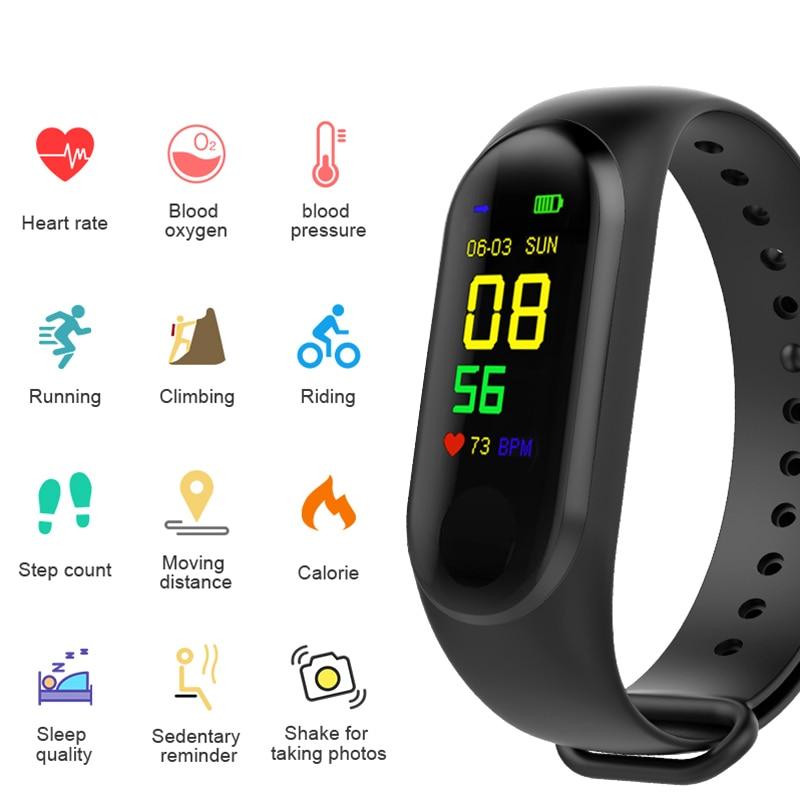 M4 Smart Sport Watch Health Fitness Tracker Heart Rate Blood Pressure Monitor 2
