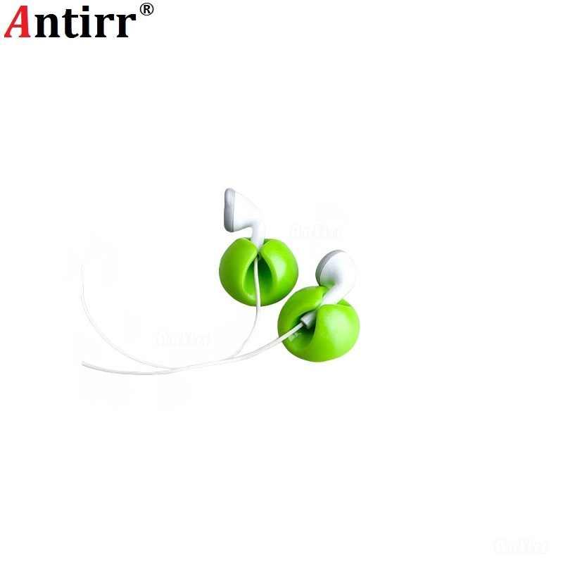 Uniwersalny okrągły kolorowe klip kabel nawijarka zacisk słuchawki Tie organizator USB do sznurka linia danych schludny sortowania