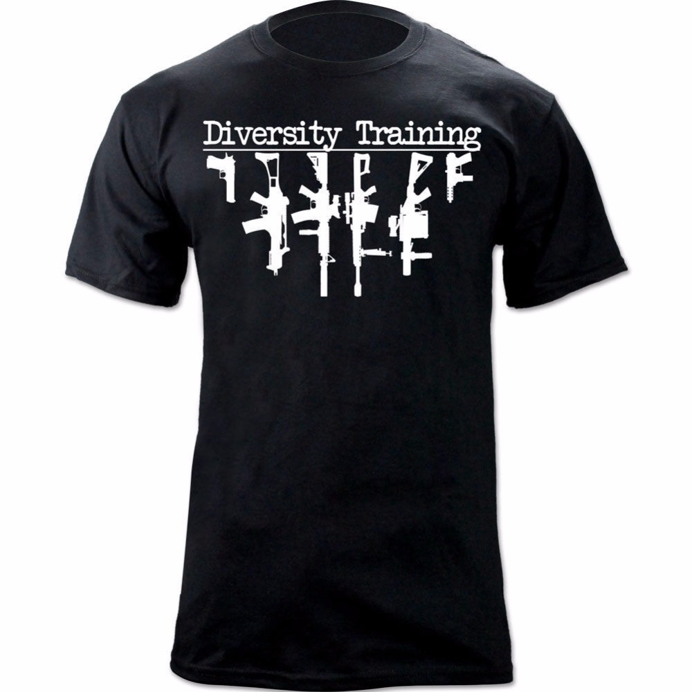 Men T Shirt 2018 Summer Fashion 100% Cotton Short Sleeve O-Neck Support Diversity Hot sale Military Style 2nd Amendment T-shirt