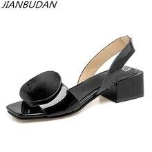 Купить с кэшбэком JIANBUDAN Sexy summer shoes women's 2019 Personalized women's high-heeled sandals High quality material Non-slip sandals 34-43