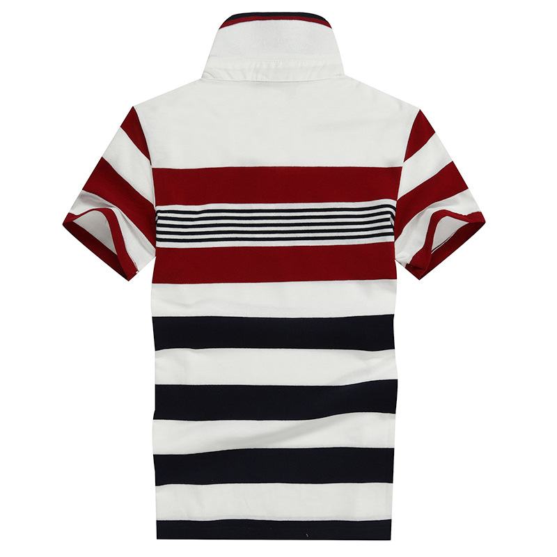 Image 5 - 92% Cotton camisa Men Polo Shirt  2019 Casual Striped Slim short sleeves ASIAN SIZE M 4XL-in Polo from Men's Clothing