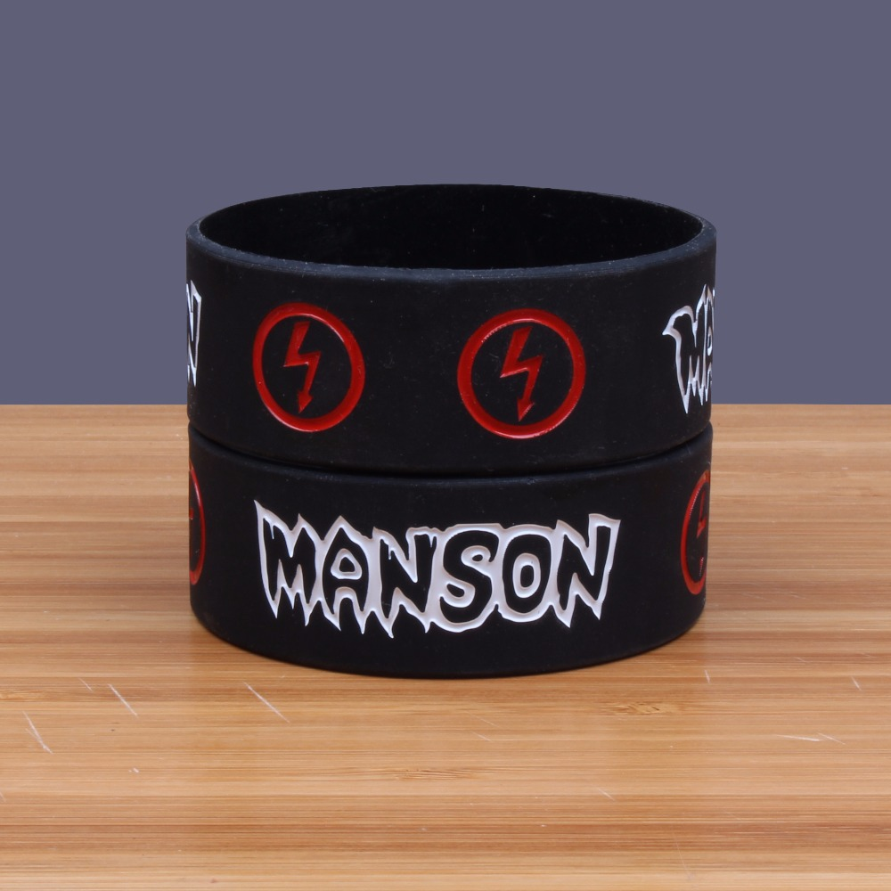 Marilyn Manson Wide Version Band Silicone Bracelets Heavy Metal Band Silicon Wristband Prog Rock