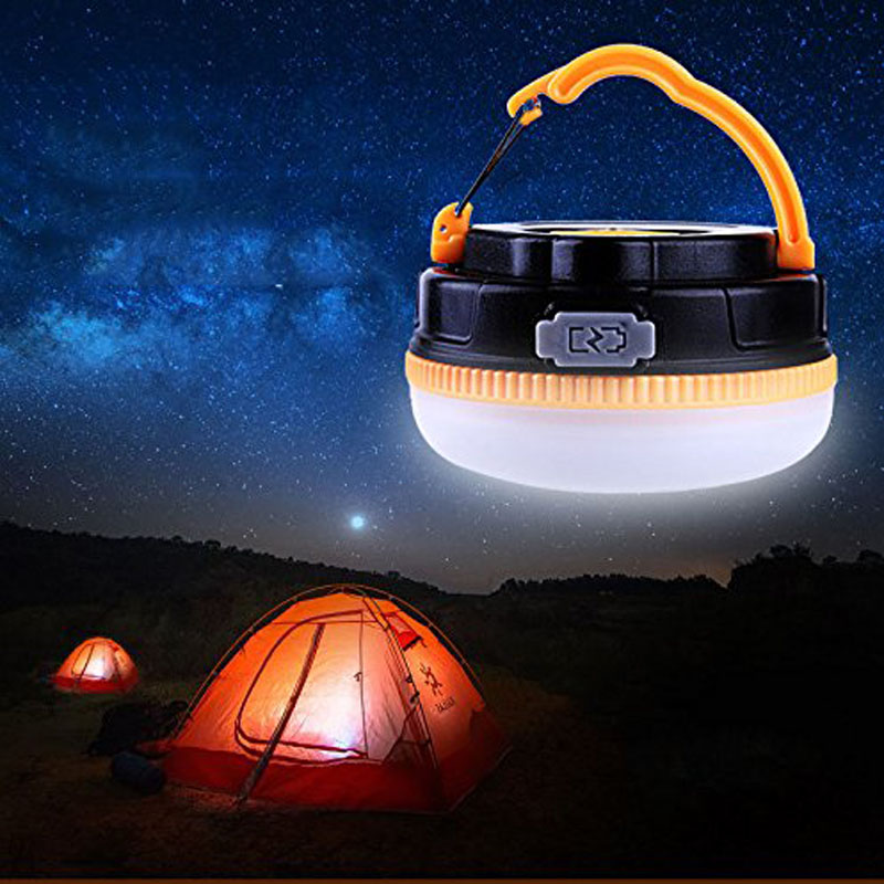 Outdoor Bright LED Camping Magnet Hurricane Lamp Rechargeable Lantern Ultra Bright 180 Lumens Emergency Light --M25