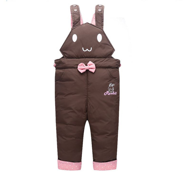 d286bf6b0 Children Down Trousers Kids Baby Winter Pants Girls Boy Down ...