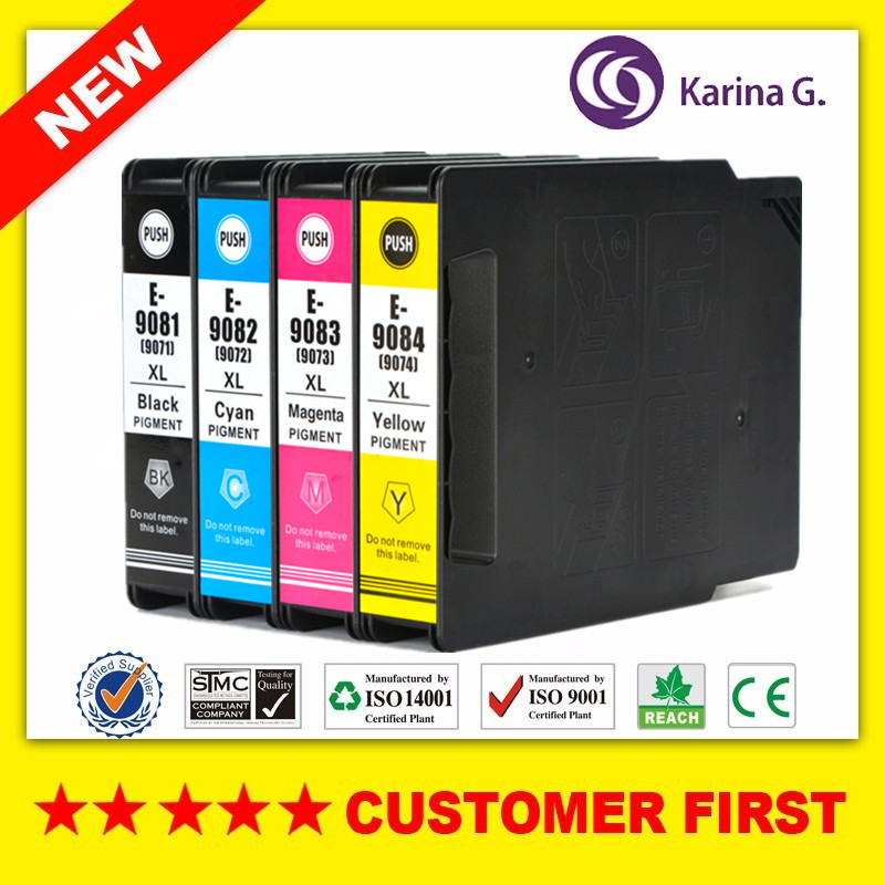 Compatible for Epson T9081 T9082 T9083 T9084 T9071 Ink Cartridges suit  For WorkForce Pro WF-6090DW 6590DWF Printer