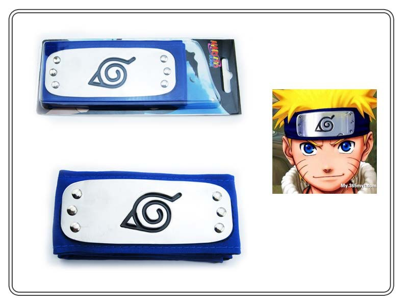 HOT ANIME Naruto Headband Leaf Village Logo Konoha Kakashi Akatsuki Members Headband Cosplay Costume Accessories 22.jpg