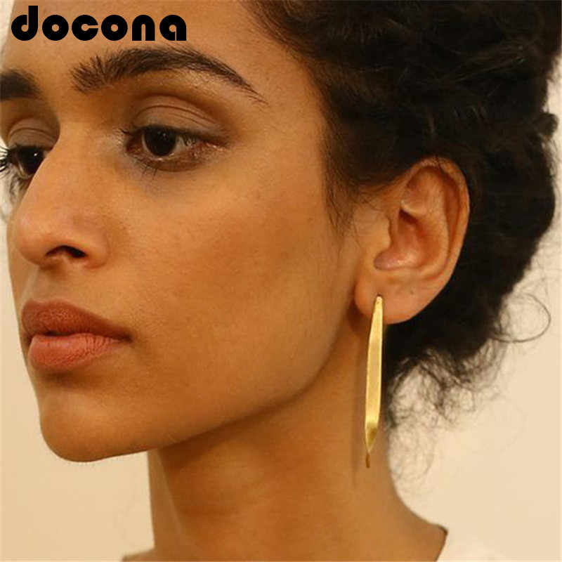 docona Punk Metal Abstract Leaf Drop Dangle Earrings for Women Girl Geometric Piercing Pendant Earring Statement Jewelry 2611