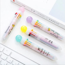 4pcs/lot Ballpoint pens 10 colors 0.5mm ball pen nice marker Stationery gift Office accessories school writing supplies G019(China)